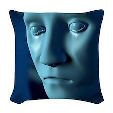 Depression, artwork Woven Throw Pillow