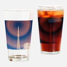 Radio mast with radio waves Drinking Glass