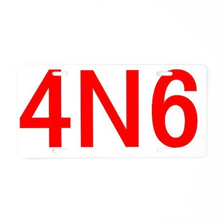 4N6 Aluminum License Plate
