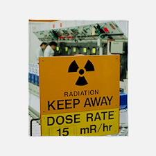 Radiation hazard sign at Amersham In Throw Blanket