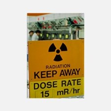 Radiation hazard sign at Amersham Rectangle Magnet
