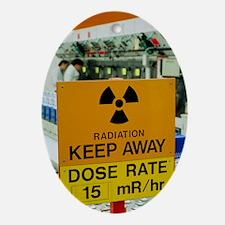 Radiation hazard sign at Amersham In Oval Ornament