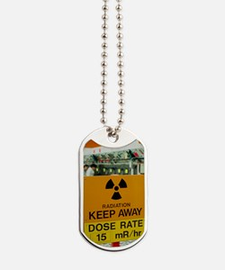 Radiation hazard sign at Amersham Interna Dog Tags