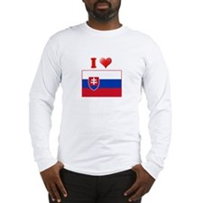 I love Slovokia Flag Long Sleeve T-Shirt