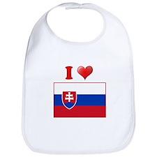 I love Slovokia Flag Bib
