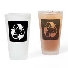 Recycling sign Drinking Glass