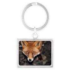 Red fox Landscape Keychain
