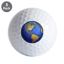 Globe in space centered on west Indies Golf Ball