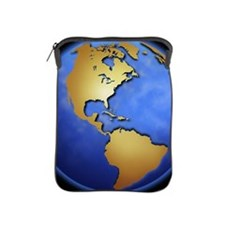 Globe in space centered on west Indies iPad Sleeve