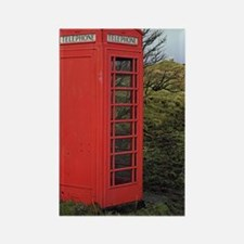Red telephone box Rectangle Magnet