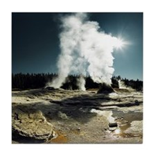 Old faithful loop trail - Yellowstone Tile Coaster