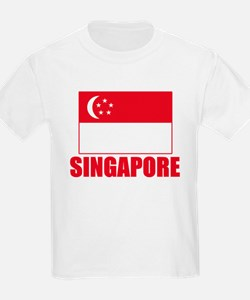Singapore Flag Kids T-Shirt