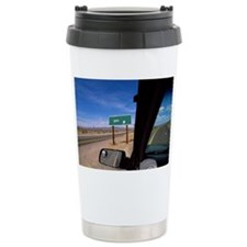 USA, Nevada, road sign through  Travel Mug