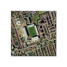 "Redeveloping West Ham's sta Square Sticker 3"" x 3"""