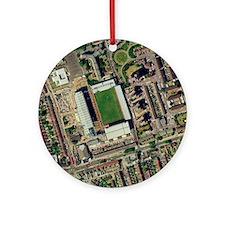 Redeveloping West Ham's stadium Round Ornament