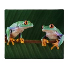 Red-eyed tree frogs Throw Blanket