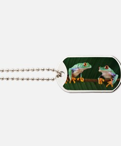 Red-eyed tree frogs Dog Tags