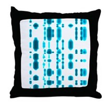DNA autoradiogram Throw Pillow