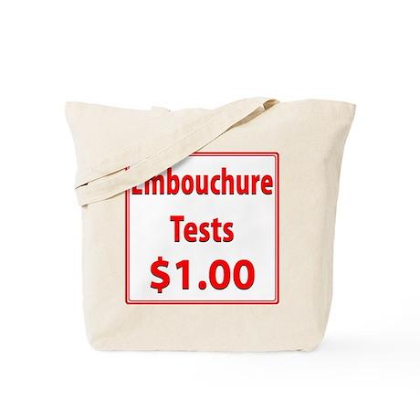 Embouchure Tests $1.00 Tote Bag