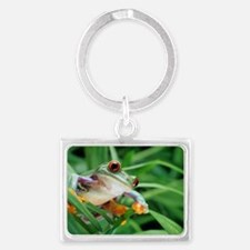 Red-eyed tree frog Landscape Keychain