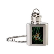 Red-eyed tree frogs Flask Necklace