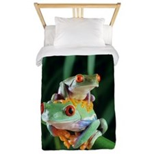 Red-eyed tree frogs Twin Duvet