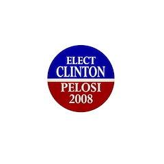 Elect Clinton-Pelosi Mini Button