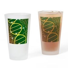 DNA circuit board Drinking Glass