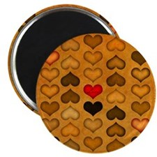 Rows of Hearts Magnet