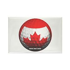 Canadian Golf Rectangle Magnet
