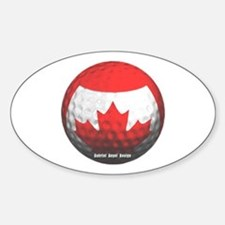 Canadian Golf Oval Bumper Stickers