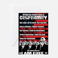 United States of Conformity Greeting Card
