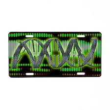 DNA helix Aluminum License Plate