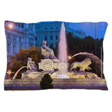 Spain, Madrid, Plaza de Cibeles with F Pillow Case