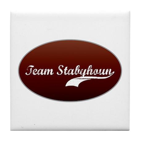 Team Stabyhoun Tile Coaster