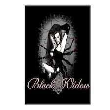 Black Widow Postcards (Package of 8)