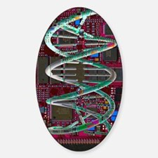DNA helix on circuit board Decal