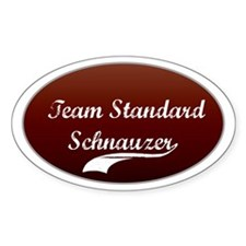 Team Schnauzer Oval Decal