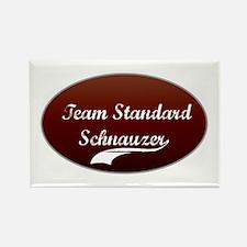 Team Schnauzer Rectangle Magnet (100 pack)