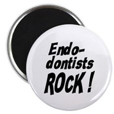 "Endodontists Rock ! 2.25"" Magnet (100 pack)"