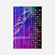 DNA microarray and double helix Rectangle Magnet
