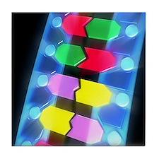 DNA molecule Tile Coaster