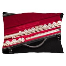 Flute in a red case Pillow Case