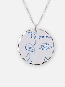 Unique Funny I Got Your Back Necklace Circle Charm