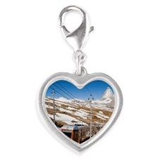 A cog railway train and Mount  Silver Heart Charm