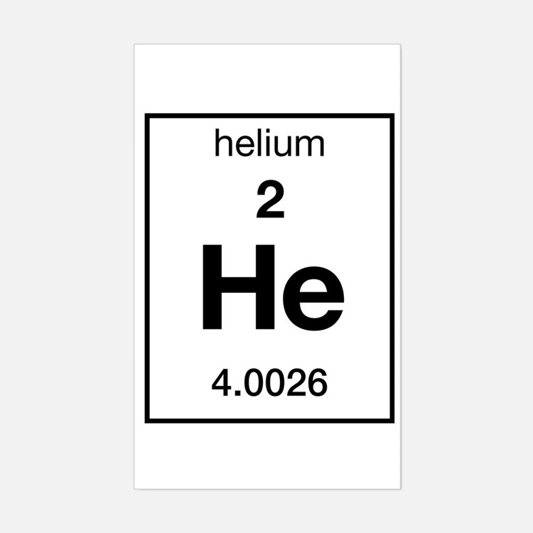Helium Element Bumper Stickers | Car Stickers, Decals, & More