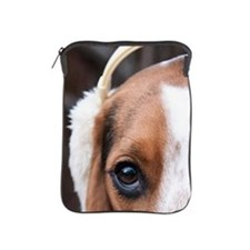 Hound wearing earmuffs iPad Sleeve