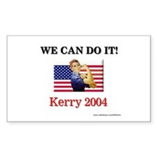 """""""We can do it!"""" Rectangle Decal"""