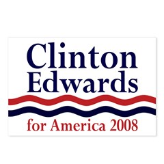 Clinton-Edwards 2008 Postcards (Package of 8)