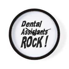 Dental Assistants Rock ! Wall Clock